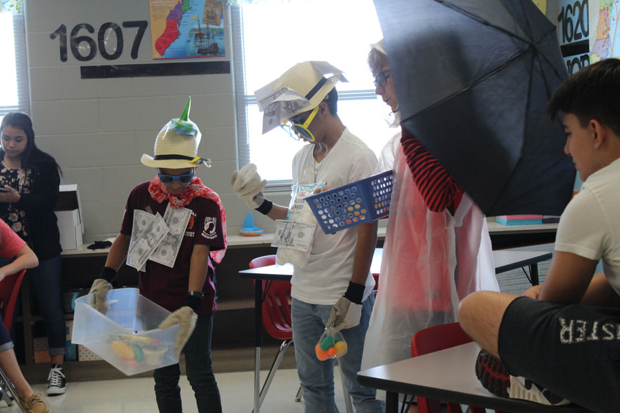 Social Studies students get dressed up for their creative project