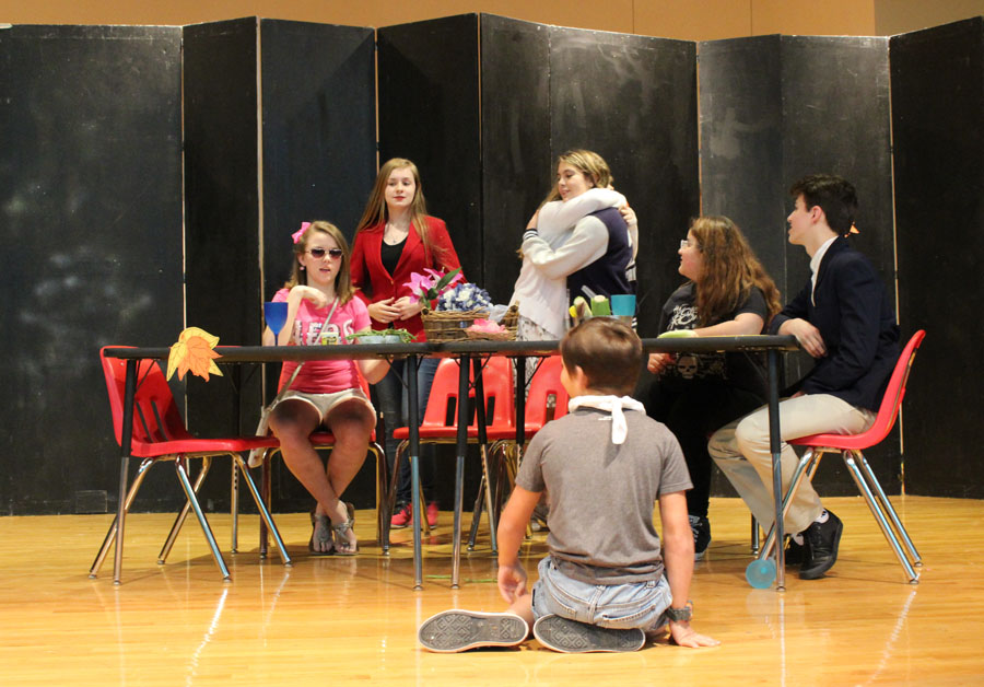 A scene from the Thanksgiving-themed variety show