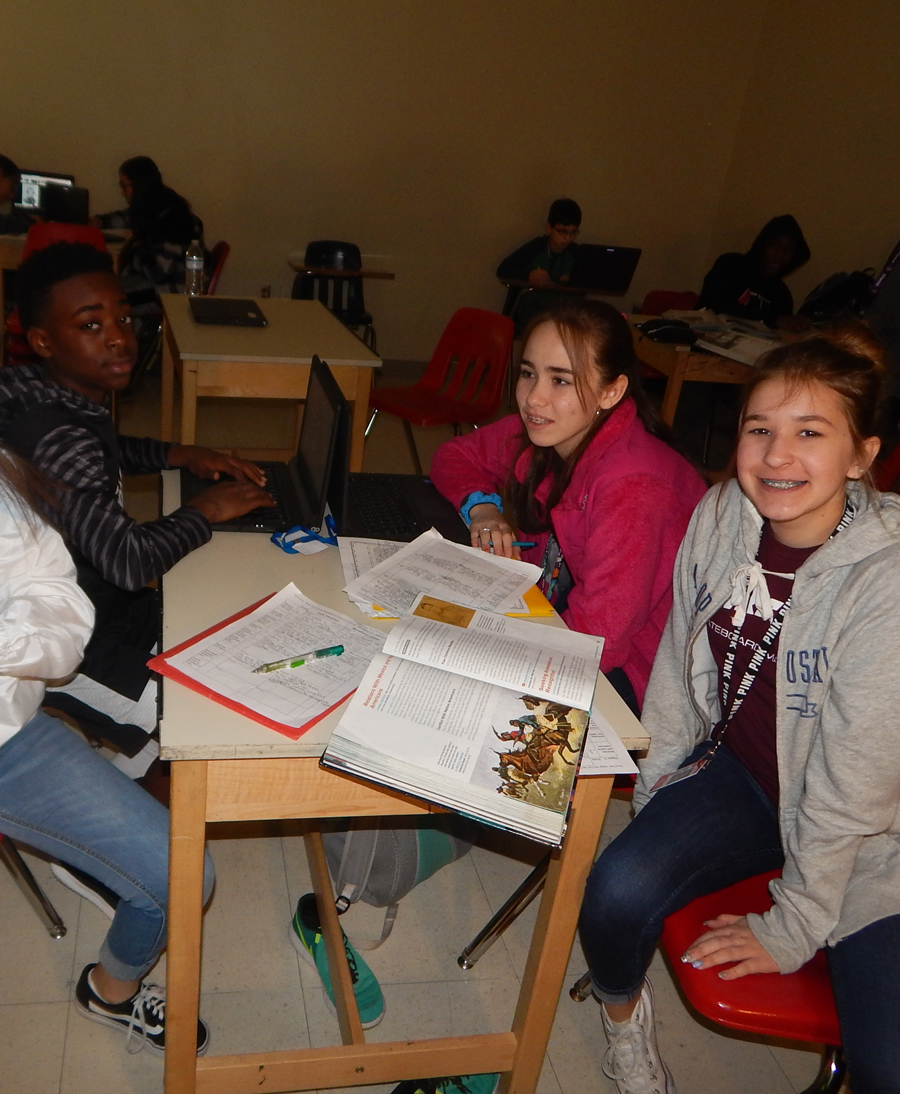 These students take a break from studying to pose for a picture.