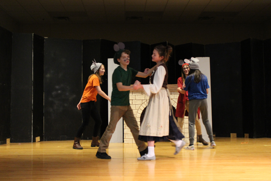 Some of our talented students showed off their acting skills in the Cinderella school play.
