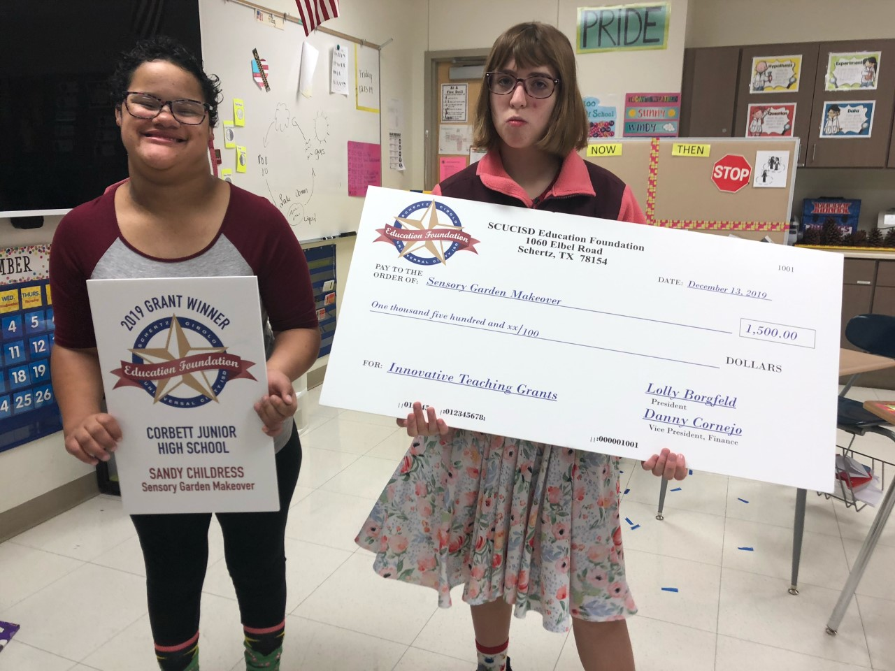 Students receive grant money to improve current Sensory Garden.