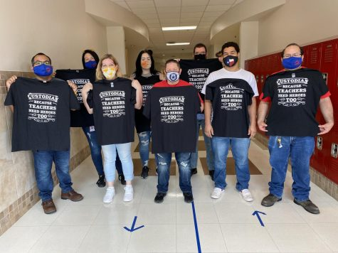 Corbett Junior High recognized their custodial staff for the hard work they do to keep our school in tip-top shape. The custodial staff was treated to lunch and given a t-shirt. National Custodian Day was October 2.